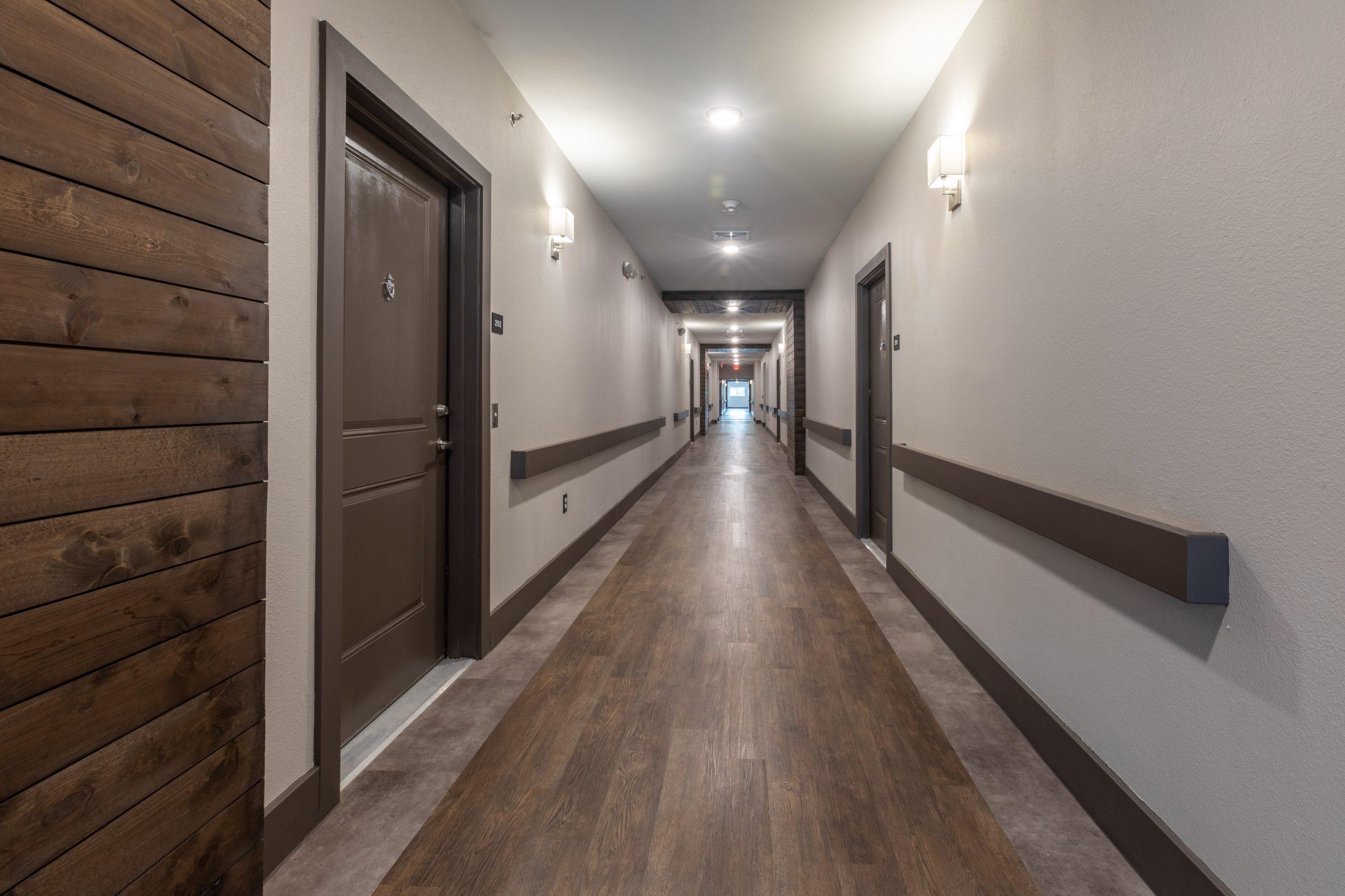 hallway in apartment building