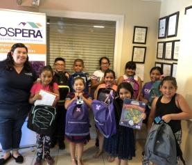 Community Supports Prospera's Youth with Back to School Donations