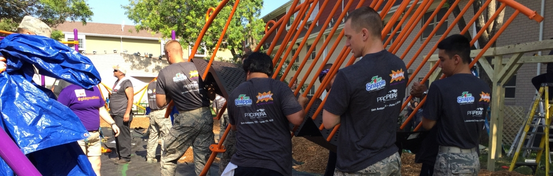 200 Volunteers to Improve San Antonio Kids' Lives & Futures with Play