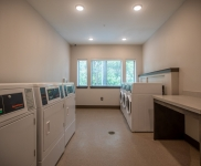 laundry room in apartment building
